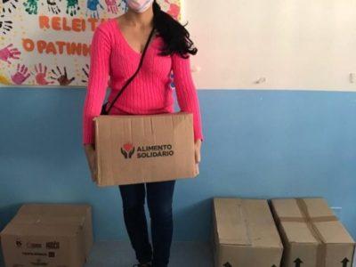 Mais de mil famílias que residem em torno dos 14 projetos da AEB foram beneficiadas com distribuição de cestas básicas