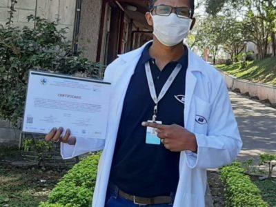Colaboradores do Centro de convivência Otoniel Mota – AEB, receberam do Ministério da Saúde treinamento aos Manejos Clínicos do Coronavírus