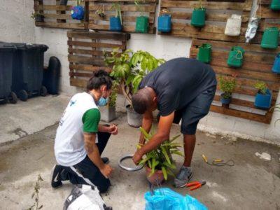 CTA Liberdade – AEB constrói um jardim vertical feito pelos conviventes